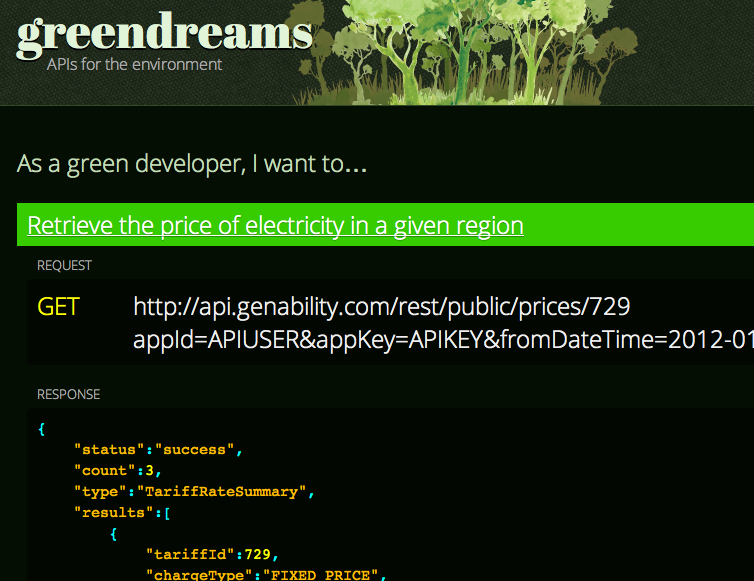 Green Dreams Website